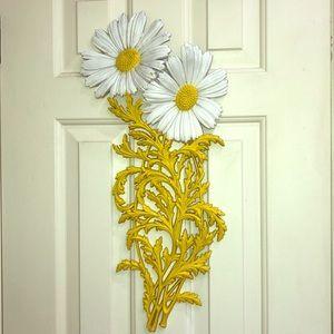 Pretty White and Yellow Daisy Art Deco Art